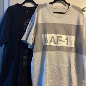 Nike Air Force One XXL Grey Tee Shirt